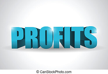 profits text illustration design