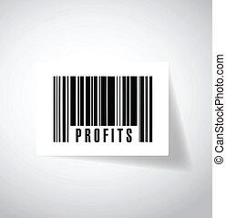 profits upc, barcode illustration design