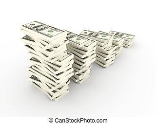 profitto, crescita, dollaro