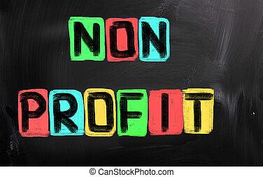 profitto, non, concetto