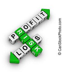 profitto, perdita, -, rischio