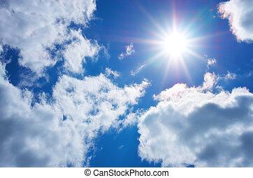 profond, bleu, sky.