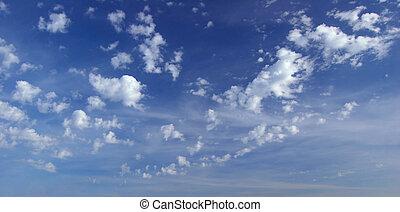 profond, ciel bleu