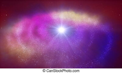 profond, espace, galaxie spirale