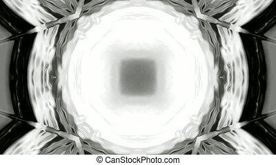 profond, tourner, trou noir, tunnel, lumière