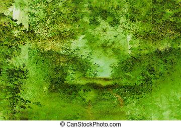 profondeur, vert