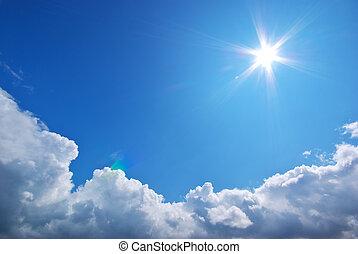 profondo, blu, sky.