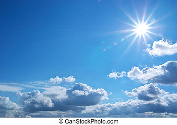 profondo, cielo blu
