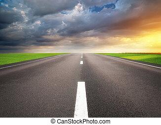 profondo, road.