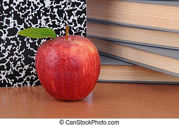profs, pomme, bureau