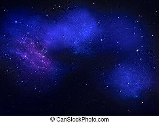 profundo, espacio, resumen, fondo azul