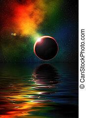 profundo, espacio