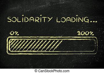 progess, barre, solidarité, texte