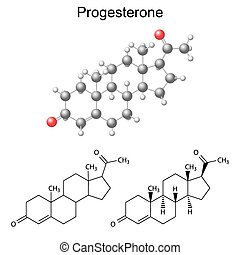Progesterone molecule - Structural chemical formulas and ...
