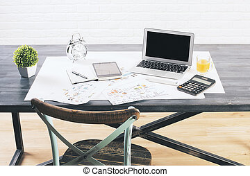 progettista, closeup, desktop