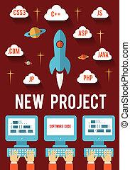 progetto, affari nuovi