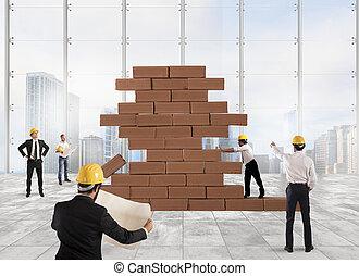 progetto, architetti, lavorativo