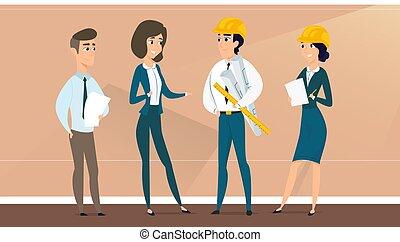 progetto, discute, architetto, customer.