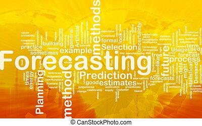 prognozowanie, pojęcie, tło