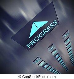progrès, ascenseur