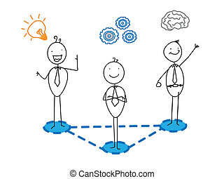 progrès, bon, idée, business, intelligent