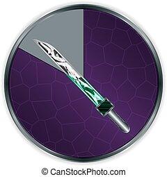 progrès, cadre, épée