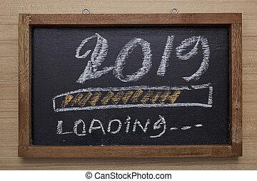 progrès, chargement, 2019, barre