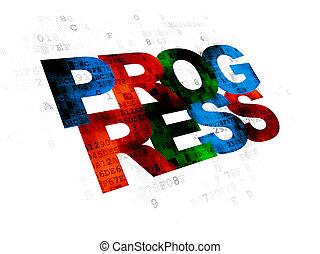 progrès, concept:, fond, business, numérique