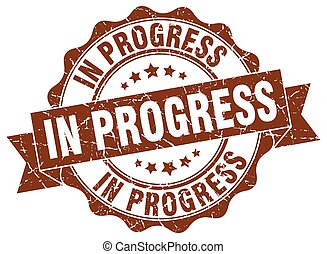 progrès, signe., cachet, stamp.