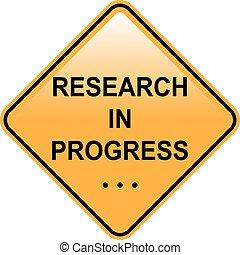 progrès, signe, recherche