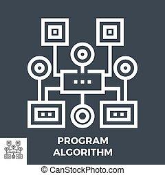 Program Algorithm Line Icon - Program Algorithm Thin Line ...