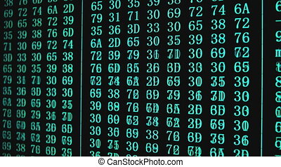 Program code on PC screen - Program HEX code on scientific ...