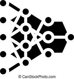 program hierarchy artificial intelligence glyph icon vector illustration