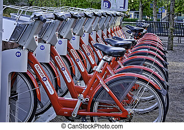 programa, bicicletas, b, denver