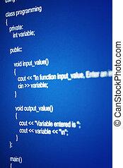 programación, código
