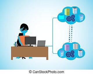programación, nube, compute