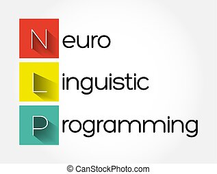 programación, plano de fondo, nlp, concepto, -, siglas, linguistic, neuro