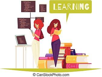 programador, conceito, educação