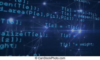 programma, codes, computerscherm