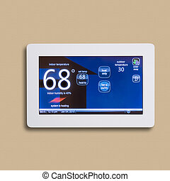 programmable, thermostat, isolé