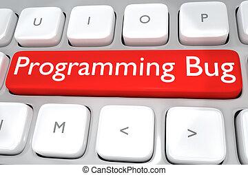 programmation, concept, -, bogue, logiciel