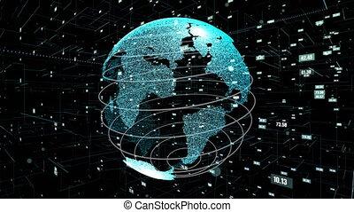 programmation, global, informatique, résumé, données, technologie