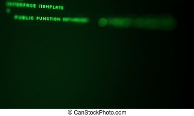 programmation, peu profond, code, dof, screen.