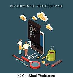 programmazione, sviluppo, concetto