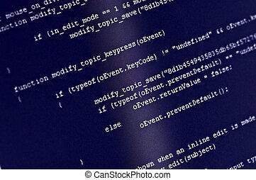 programme, code