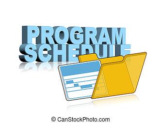 programme, horaire