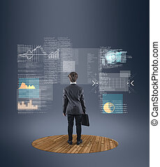 futuristic data interface