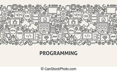programmering, concept, spandoek