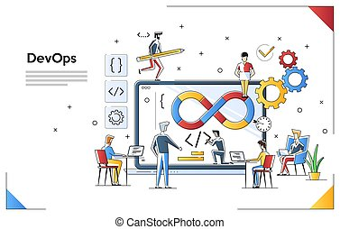 Programmers at work concept. Can use for web banner, ...
