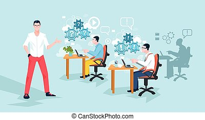 Programmers Working Office Business People Team Workplace